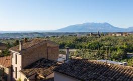 Medieval town Loreto Aprutino, Abruzzo, Italy Royalty Free Stock Images