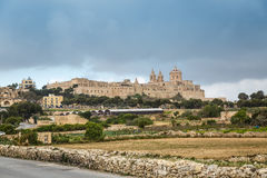 The medieval town Mdina on the Malta island Stock Image