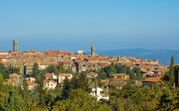 Medieval town in Montalcino area, Tuscany, Italy Stock Photography