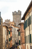 The medieval town of Montalcino Royalty Free Stock Photos
