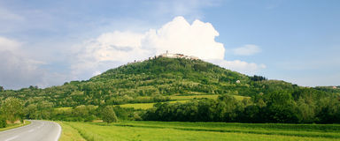 Medieval town Motovun on a top of a hill, Croatia. Royalty Free Stock Image