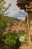 The medieval town of Mura in northeastern Spain Stock Image