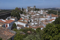 Medieval Town of Obidos - Portugal Royalty Free Stock Photos