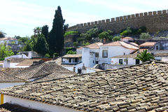 The medieval town of Obidos at Portugal Stock Image