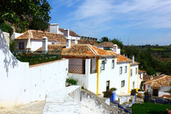 The medieval town of Obidos at Portugal Royalty Free Stock Photos