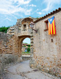 Medieval town  Peratallada in Catalonia Royalty Free Stock Photography