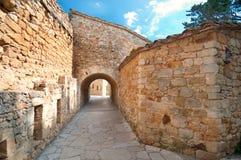 Medieval town Peratallada, Spain Stock Photos