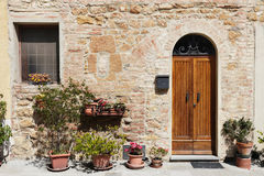 The medieval town Pienza in italy Royalty Free Stock Image