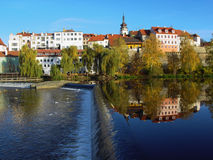 The medieval town Pisek Stock Images