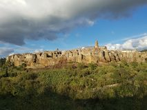 Medieval town of Pitigliano royalty free stock images