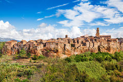 Medieval town of Pitigliano in Tuscany, Italy Royalty Free Stock Photos