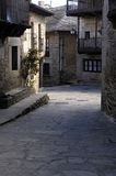 Medieval town of Puebla de Sanabria, Zamora province,. Spain stock photography
