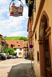Medieval town Riquewihr in Alsace Stock Photos