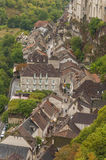 Medieval town of Rocamadour, France. Shot from above Stock Photos