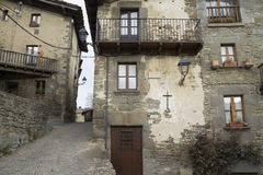 The medieval town of Rupit Stock Photo