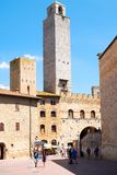 The medieval town of San Gimignano in Tuscany, Italy Royalty Free Stock Photos