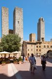 The medieval town of San Gimignano in Tuscany, Italy Stock Images