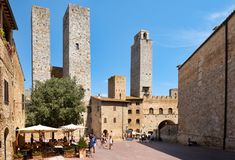 The medieval town of San Gimignano in Tuscany, Italy Stock Photography