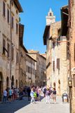 The medieval town of San Gimignano in Tuscany, Italy Royalty Free Stock Images