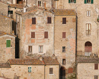 Medieval town Sorano in Italy. Sorano, the ancient town in Tuscany, Italy Royalty Free Stock Images