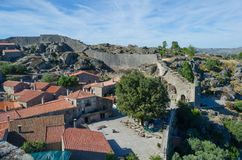 Medieval town, Sortelha, district of Guarda. Portugal. The medieval town of Sortelha maintains its medieval aspect and its stone walls stock photos