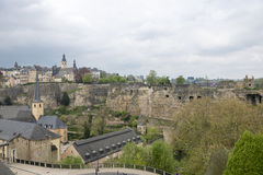 Medieval town in springtime. Old part of Luxembourg during spring time Royalty Free Stock Images