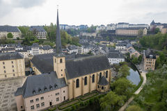 Medieval town in springtime. Old part of Luxembourg during spring time Stock Images
