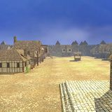 Medieval town - square Royalty Free Stock Images
