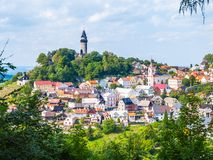 Medieval town of Stramberk with gothic castle and Truba Tower, Moravia, Czech Republic Royalty Free Stock Photo