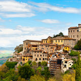 Medieval Town. Todi over the Umbrian Valley, Italy Royalty Free Stock Images