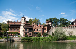 Medieval town in Torino Stock Photo