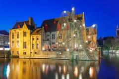 Medieval town and tower Belfort, Bruges, Belgium Stock Image