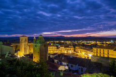 Medieval town Trujillo at sunset. Spain Royalty Free Stock Images