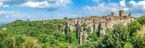 Medieval town of Vitorchiano in Lazio, Italy Stock Image