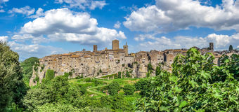Medieval town of Vitorchiano in Lazio, Italy Stock Images