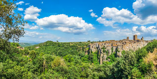 Medieval town of Vitorchiano in Lazio, Italy Royalty Free Stock Image