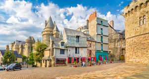 Medieval town of Vitre, Bretagne, France Stock Photography