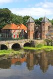 Characteristic medieval city wall,Amersfoort.Netherlands Stock Images