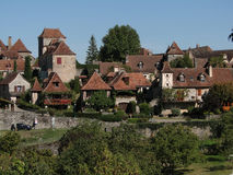 Medieval town and walls Stock Photography