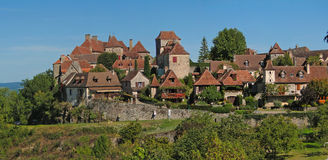 Medieval town and walls Royalty Free Stock Photo