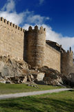 Medieval town walls of Avila, Spain. Royalty Free Stock Photos