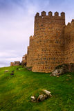 Medieval town walls. Avila Stock Photos