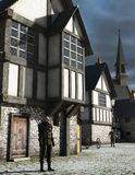 Medieval Town Watchman Stock Images