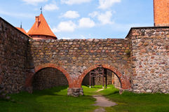 Medieval Trakai Castle near Vilnius, Lithuania. Royalty Free Stock Image