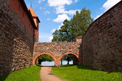 Medieval Trakai Castle near Vilnius, Lithuania. Medieval Trakai Castle near Vilnius, Lithuania on a beautiful summer day Royalty Free Stock Images