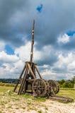 Medieval trebuchet at Chateau Des Baux de Provence, France Stock Photography