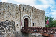 Landscape medieval Fortress of the Suceava district, from Romani Royalty Free Stock Photos