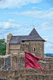 Landscape medieval Fortress of the Suceava district, from Romani Royalty Free Stock Photography