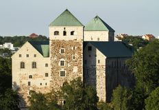 The medieval Turku castle in Finland. stock image
