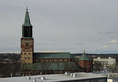 Medieval Turku cathedral in Finland Royalty Free Stock Photos